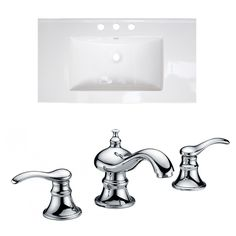 Drake Double Handle Ceramic Top with Off Center Faucet