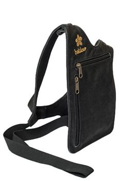 Baliloca Womens Handsfree Jet Black Leather Shoulder Bag Purse ** You can get more details by clicking on the image.
