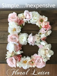 How to make a simple easy Floral Letter