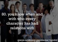 Grey's Anatomy Problems I am the lexipedia on greys..
