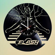 The Flash Handmade Vinyl Record Wall Clock Fan Gift - VINYL CLOCKS