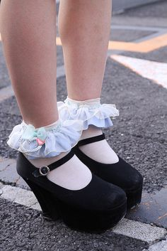Little Wedges and Lace Socks