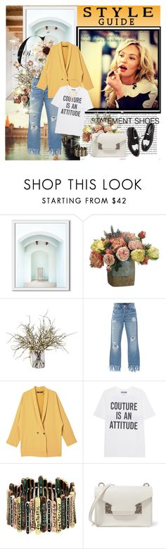 """""""NO MATTER HOW YOU FEEL, GET UP, DRESS UP, SHOW UP AND NEVER GIVE UP."""" by k-hearts-a on Polyvore featuring Oris, West Elm, Kerr®, Allstate Floral, Ethan Allen, 3x1, MANGO, Moschino, Sophie Hulme and House of Harlow 1960"""