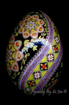 Ivys Starlight Garden Ukrainian Easter Egg Pysanky By So Jeo