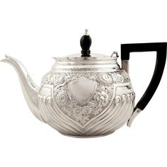 This is a super antique Victorian hallmarked sterling silver bachelor teapot - found at www.rubylane.com @rubylanecom #VintageBeginsHere #Victorian