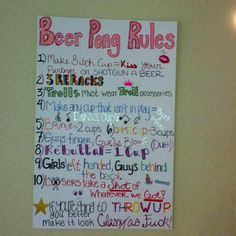 @Danielle, we need to make a sign like this before the party, but we should change some of the rules.