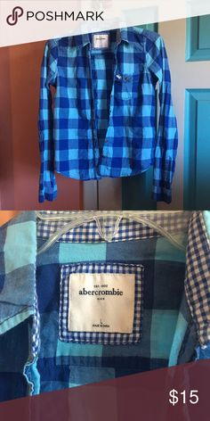 Abercrombie Kids Flannel Size Kids L. Would fit a regular XS or small abercrombie kids Shirts & Tops Button Down Shirts
