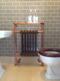 Choosing a copper radiator is a fabulous way to add come classical touches to an otherwise modern, trendy bathroom Industrial House, Classic Bathroom, Trendy Bathroom, Classical Bathroom, Elegant Bathroom, Bathroom Renovations, Radiators, Copper Bathroom, Bathroom Inspiration
