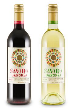 Savida Sangria packaging design