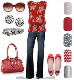 Which wrap would you choose with this outfit?  www.JenniferHQ.jamberrynails.net
