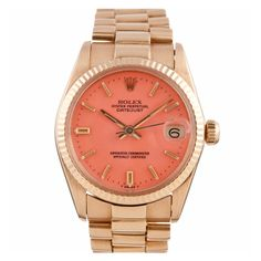 ROLEX Yellow Gold Lady's Datejust with Pink Stella Dial