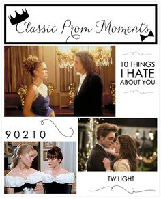 classic prom moments: 10 things i hate about you, 90210, twilight