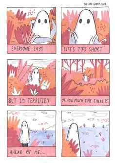The sad ghost club Ghost Comic, Comic Art, Sad Drawings, Beautiful Words, Cute Art, Art Inspo, Creepy, Illustration Art, Doodles