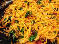 Six in the Suburbs: Butternut Squash Noodles with Cranberries and Spinach