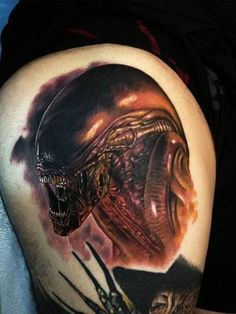 140 Innovative Biomechanical Tattoos & Meanings awesome  Check more at http://fabulousdesign.net/biomechanical-tattoos/