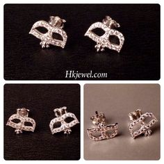 The silver mask earring! This should make you shining at the party! Contact us sales@hkjewel.com for more lasting design!