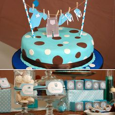 Like the clothespin banner on the cake