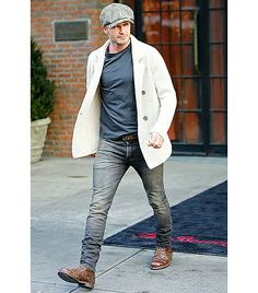 David Beckham Urbinati: Swoon, this is my favorite! Gotta love a good Newsies look! Here, Beckham is like Dickens' Artful Dodger if he was a world famous rock star athlete. Somehow he manages to look badass instead of precious (the British swagger probably doesn't hurt). Williams: David Beckham is the only man in the world (or one of the few) that can actually make a newsboy cap look cool. He always looks stylish and well dressed.