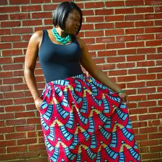 Thank you @diyanu for my African print skirt!!  Now I gotta get a midi...or two! Find them on Pinterest @DiyanuPieces. #MothersDay #TallGirlsBeLike
