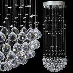 LED K9 crystal Pendant Lights Spiral staircase pendant lamp Stainless steel lighting luster GU10 Light 110V-260V voltage  #ec #e #lighting #s #NaturalPearl £337.99 #organic #natural #ecofriendly #sustainaable #sustainthefuture
