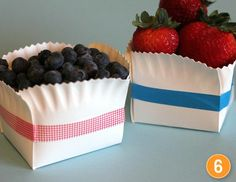 paper plate & washi tape baskets