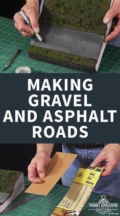 Making Gravel and Asphalt Roads Model road layouts add interest and realism to a model railroad. Just like in real life, roads can almost always be found near a railroad track. In this video, Gerry Leone, National Model Railroad Association's Master Model Ho Scale Trains, Ho Trains, Ho Scale Train Layout, Ho Model Trains, Escala Ho, Model Railroader, Asphalt Road, Model Training, Modeling Techniques