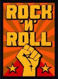 Placa Decorativa Poster Rock n Roll