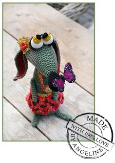 Meet Rosey...with link to pattern #amigurumi