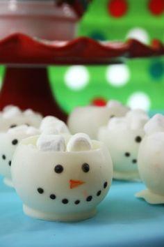 christma cook, snow parti, chocol snowman, christma food, christma time, celebr idea, snow fun, christma treat, christma snowmen