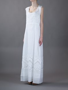 Ermanno Scervino Sleeveless Dress - Julian Fashion - farfetch.com #vegan #vegandress #veganclothes #veganclothing #veganfashion #veganstyle #dress #white