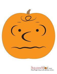 pumpkin stencils charlie brown