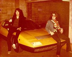 Ace Frehley (Left) & Peter Criss w/o Makeup - mid '70's