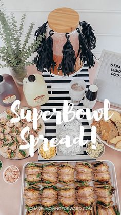 Epic snacks for your Super Bowl party! Super Bowl, Super Bowl Spread, Super Bowl Food, Super Bowl Snacks, Super Bowl Sunday, Snacks, Food, Party Food #Superbowlsunday #Superbowlspread