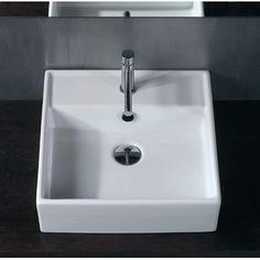 "WS Bath Collections Ceramica 18.3"" x 18.3"" Vessel Sink in White"
