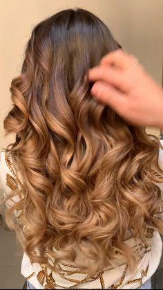 Curled Wedding Hair, Long Hair Wedding Styles, Long Hair Styles, Curls For Long Hair, Big Curls, Brown Hair With Caramel Highlights, Hair Highlights, Curled Hairstyles, Wedding Hairstyles Curls