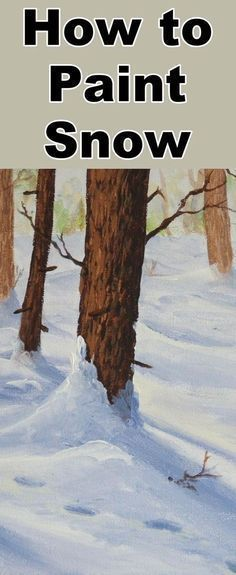 Learn how to paint snow with this oil painting tutorial #OilPaintingWater #OilPaintingTutorial #OilPaintingTips