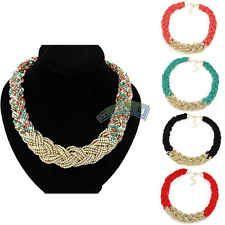 Fashion New Charm Bohemian Gold Beads Chain Chunky Choker Bib Statement Necklace