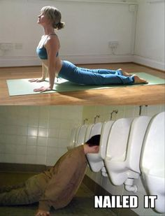 yoga poses Vs drunk fails are ironically hilarious. Yoga is very important for a healthy Funny Yoga Pictures, Funny Baby Images, Best Funny Photos, Funny Animal Pictures, Funny Animals, Drunk Pictures, Yoga Humor, American Funny Videos, Funny Dog Videos