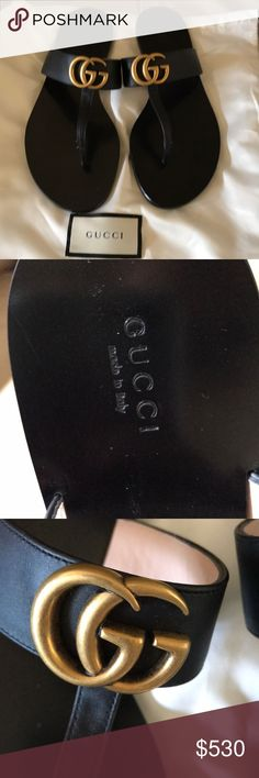 b427b13ee Gucci thong sandals Gucci leather thong sandals with double G hardware,  leather sole, made