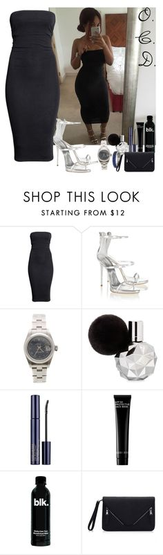 """Tube Dress."" by oreocaker ❤ liked on Polyvore featuring H&M, Giuseppe Zanotti, Rolex, Estée Lauder and Bobbi Brown Cosmetics"