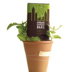 Vegan. Urban Garden Bar-Mighty Mint.  Made with mints from 5 urban  gardens in Philly, Chicago, and DC.