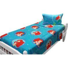 Little Mermaid Twin Sheet Set Princess Waves Bedding