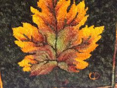 Shading a Leaf with Casserole Dyed Wool by Cindy Duade
