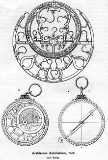 History of astronomy - Arabic astrolab from 1208 AD.