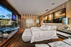 Suíte Luxo com lareira e decoração neutra maravilhosa! - Decor Salteado - Blog de Decoração e Arquitetura