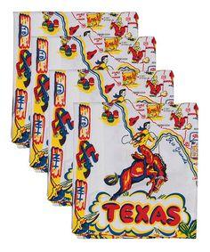 Loving this 'Texas' Napkin - Set of Four on #zulily! #zulilyfinds