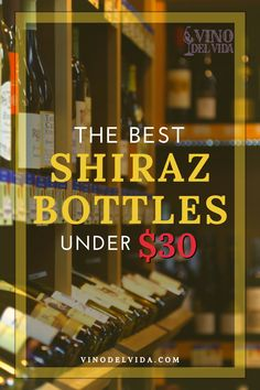 Sometimes you want to drink a good wine, but you don't want to spend a lot and that's totally okay. If you like to save older bottles for special occasions, but still drink something that's of great quality, I suggest trying Shiraz bottles under $30. Here follow my top choises, and the reason why they made the list... #vinodelvida #shirazwine #shirazwinepairing #shirazwinepairingfood #sweetshirazwine #shirazwinered #shirazwineaustralia #shirazwinerecipes #shirazwineglasses Shiraz Wine, Better One, Wines, Red Wine, Bottles, Good Things, Drink, Top, Life