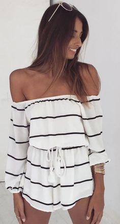 Stripe Playsuit Source