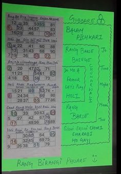 Tambola game for Holi theme kitty party In this ticket mark all the options and distribute one sheet with housie ticket pasted on it. Mark 3 numbers as single circle in each ticket, mark double numbers as 1 pair in each ticket. All six slips have different songs written on them, so 6 single slip…