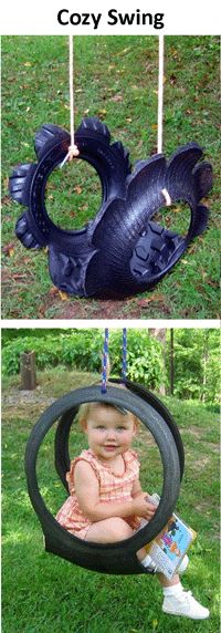 Swing Made From Recycled Tire